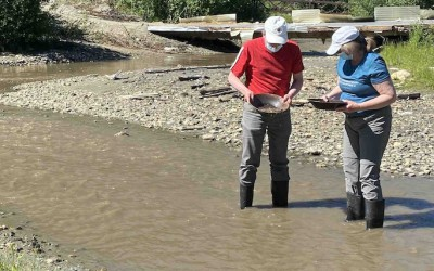 Couple Gold Panning